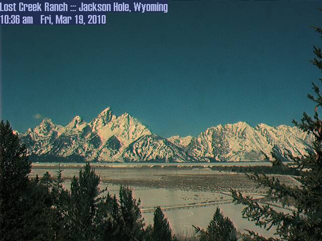 Tetons - From the east webcam